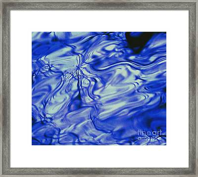 Solvent Blue Framed Print
