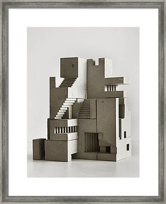 Soma Structure 4 Framed Print by David Umemoto