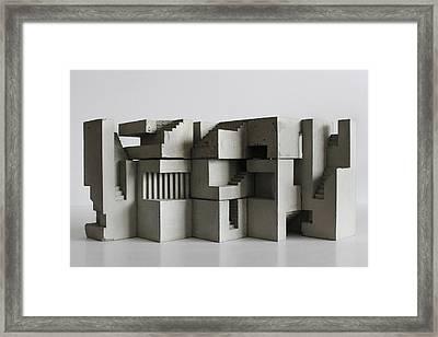 Soma Structure 7 Framed Print by David Umemoto