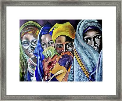 Somali Women Framed Print by Miriam Kalb