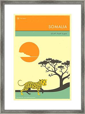 Somalia Travel Poster Framed Print by Jazzberry Blue