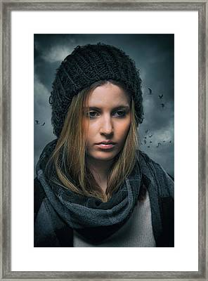 Somber Girl Framed Print