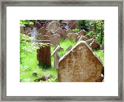 Somber Granite Framed Print by Patrick Murphy