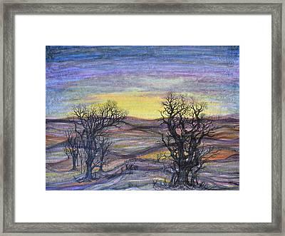 Somber Landscape Framed Print by Regina Valluzzi