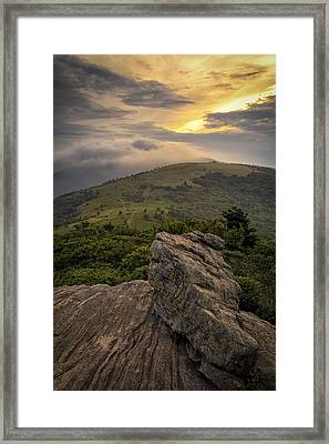 Rocky Sunset - Roan Mountain Framed Print