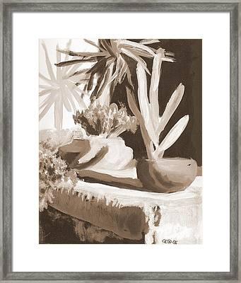 Sombras Framed Print by George I Perez