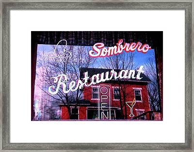 Sombrero Restaurant Framed Print by Jame Hayes