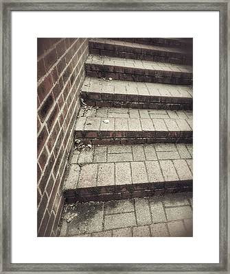 Some Brick Steps Framed Print by Tom Gowanlock