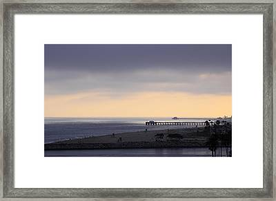 Some Cream After Sunset Framed Print