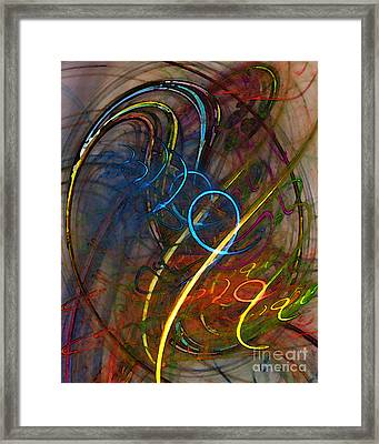 Some Critical Remarks Abstract Art Framed Print by Karin Kuhlmann