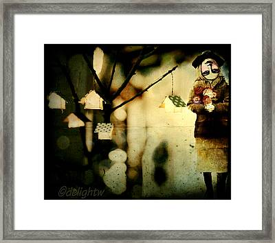Framed Print featuring the digital art Some Days Are Like That by Delight Worthyn
