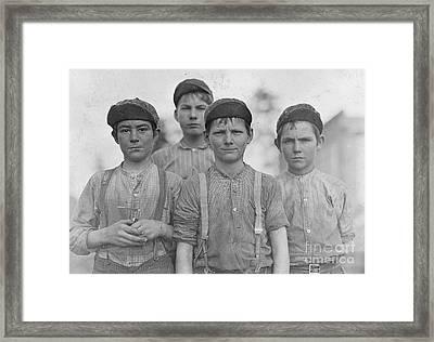 Some Doffer Boys Framed Print
