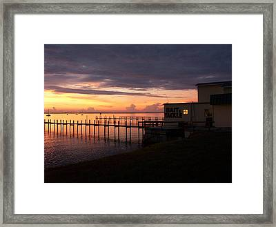 Some Golden Daybreak Framed Print by Joyce Kimble Smith