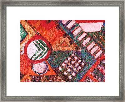 Some Like It Hot Ooooh Not Plane Geometry IIi Framed Print by Anne-Elizabeth Whiteway