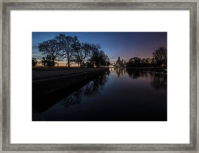 Some Nature With The Chicago Skyline In The Background Framed Print
