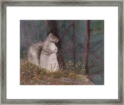 Framed Print featuring the painting Some Nutty Guy by Martha Ayotte