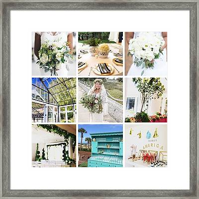Some Of Our Favorite marry Moments Framed Print