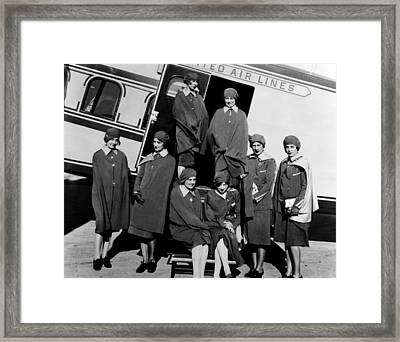 Some Of The First Stewardesses Framed Print by Everett