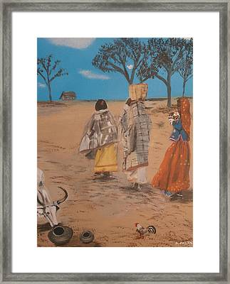 some place in India Framed Print by Aleta Parks