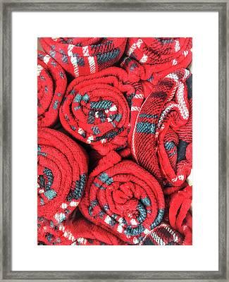 Some Red Blankets Framed Print