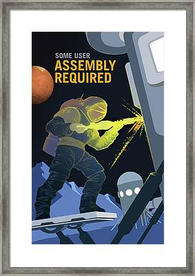 Some User Assembly Required Framed Print by Susan Wooler