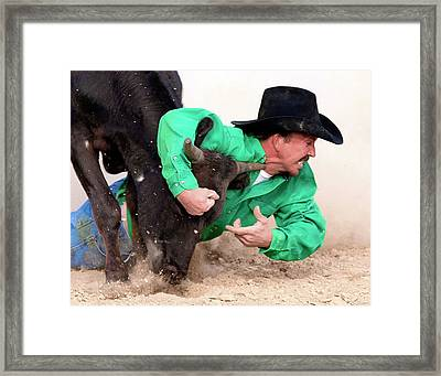 Somedays Its Diamonds Somedays Just Dirt Framed Print by Ron  McGinnis