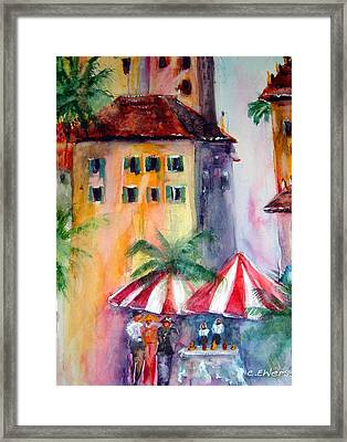 Somehwere In Italy Framed Print by Cheryl Ehlers