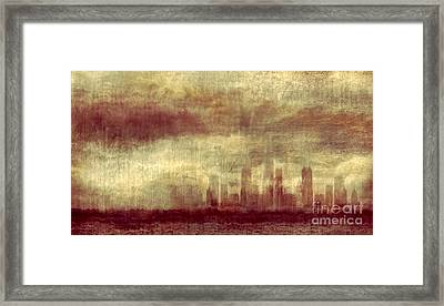 Someone To Hold You Beneath Darkened Sky Framed Print by Dana DiPasquale