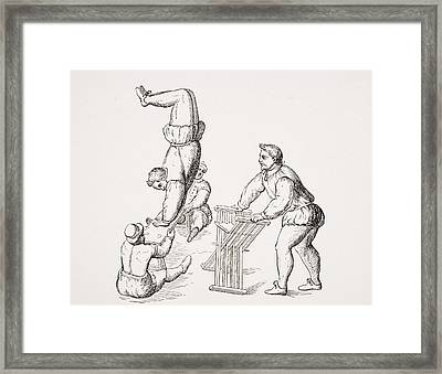 Somersaults. 19th Century Reproduction Framed Print by Vintage Design Pics