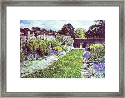 Somerset Garden Framed Print by David Lloyd Glover