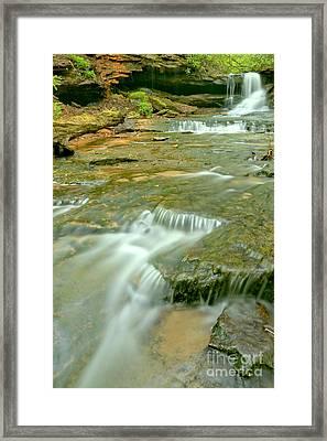Somerset Pa Cave Falls Portrait Framed Print