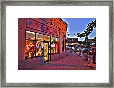 Somerville Red House Union Square Somerville Ma Framed Print