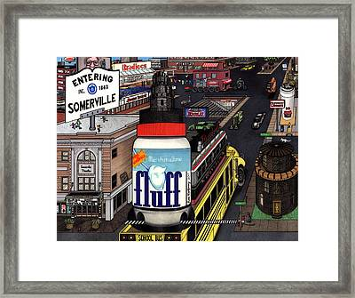 A Strange Day In Somerville  Framed Print