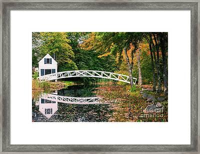 Somesville Bridge Framed Print by Henk Meijer Photography