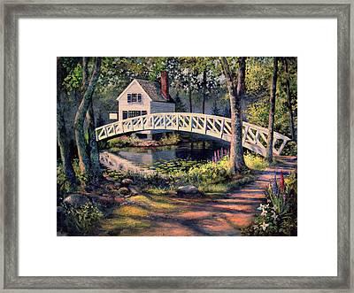 Somesville Bridge, Maine Framed Print