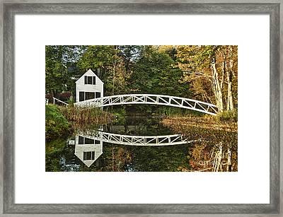 Somesville Footbridge Framed Print by John Greim