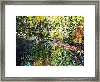 Somesville, Maine Framed Print by Eileen Patten Oliver