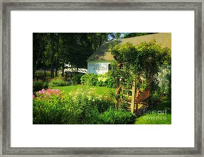 Somesville Museum And Gardens Framed Print by Elizabeth Dow
