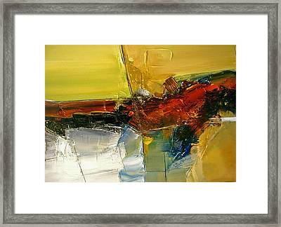 Something Always Lies  Beneath  Or Above Framed Print by Stefan Fiedorowicz