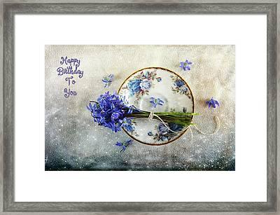 Something Blue For You Framed Print by Randi Grace Nilsberg