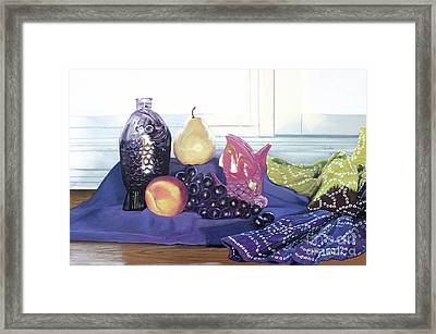 Framed Print featuring the painting Something Fishy by Cindy Lee Longhini