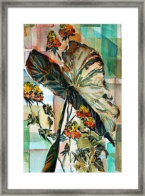 Something For The Butterflies Framed Print by Mindy Newman