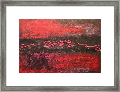 Something In Red Framed Print