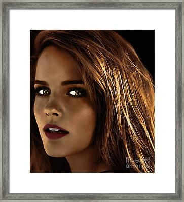 Something In The Eyes Framed Print
