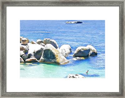 Something In The Water. Framed Print by Jan Hattingh