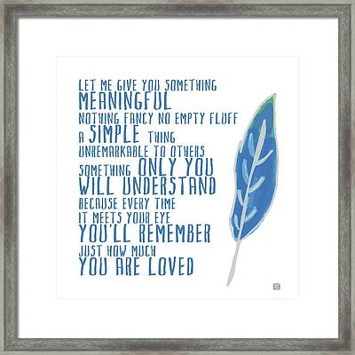 Framed Print featuring the painting Something Meaningful by Lisa Weedn