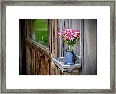 Framed Print featuring the photograph Something Old Something New by AJ Schibig