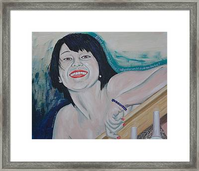 Framed Print featuring the painting Something On Her Mind by Kevin Callahan