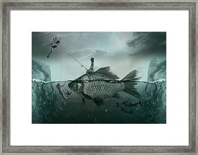 Something Smells Fishy Framed Print by Surreal Photomanipulation