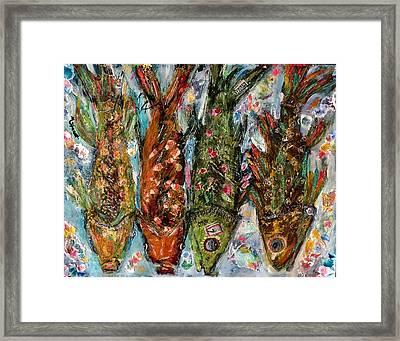 Somethin's Fishy Framed Print
